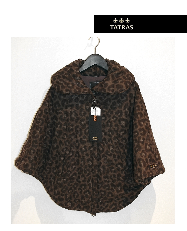 秋冬 コロンバ COLOMBA レディス ダウンポンチョ TATRAS Leopardタトラス ダウンジャケット レオパード