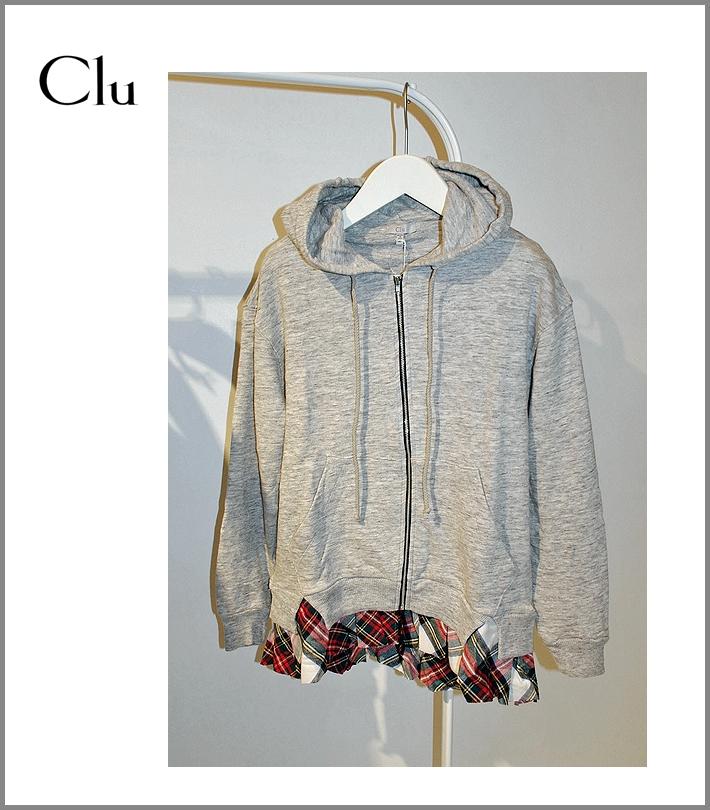 CLU【クルーフリルフーデッド・パーカー】