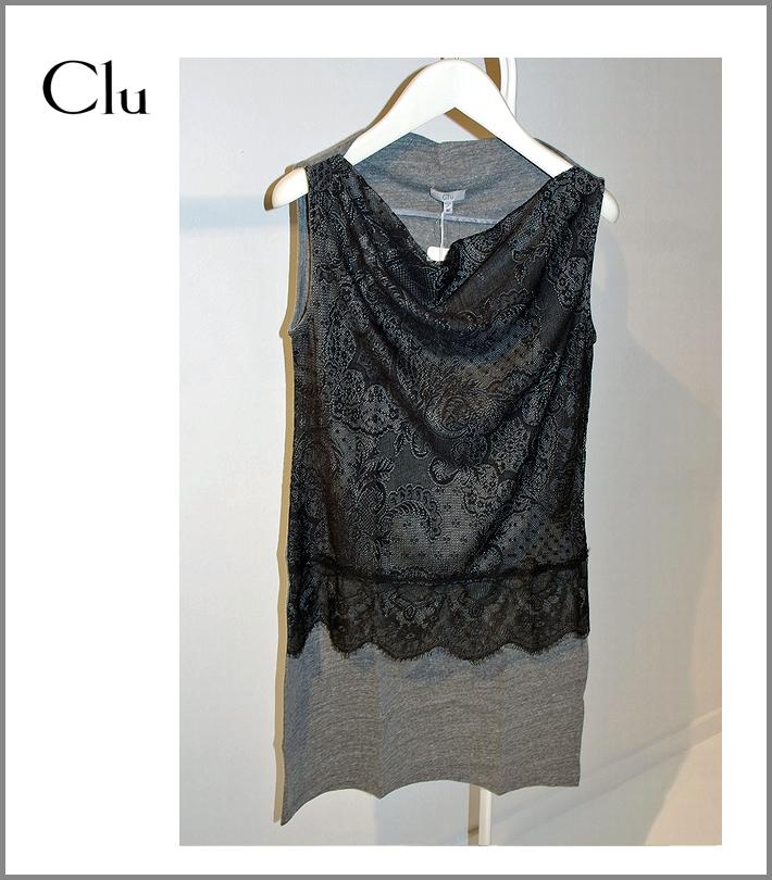 CLU【チュールレースワンピース/グレー】