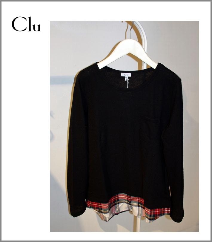 CLU【レイヤードシャツ/ブラック】