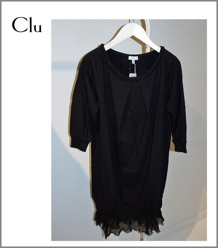 CLU【コクーンワンピース/ブラック】