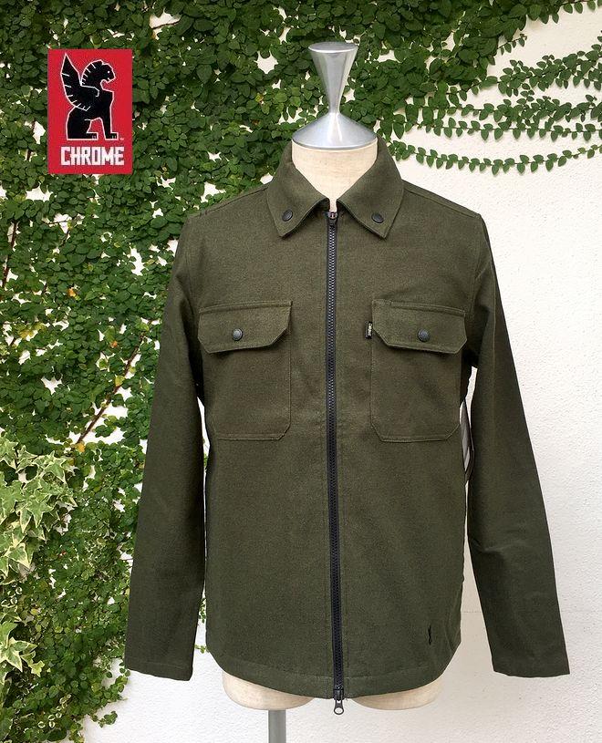 【全品P2倍/最大10,000円OFFクーポン配布中】CHROME IKE-WINDSHIRTクローム アイク・ウィンドシャツ ワークシャツジャケット