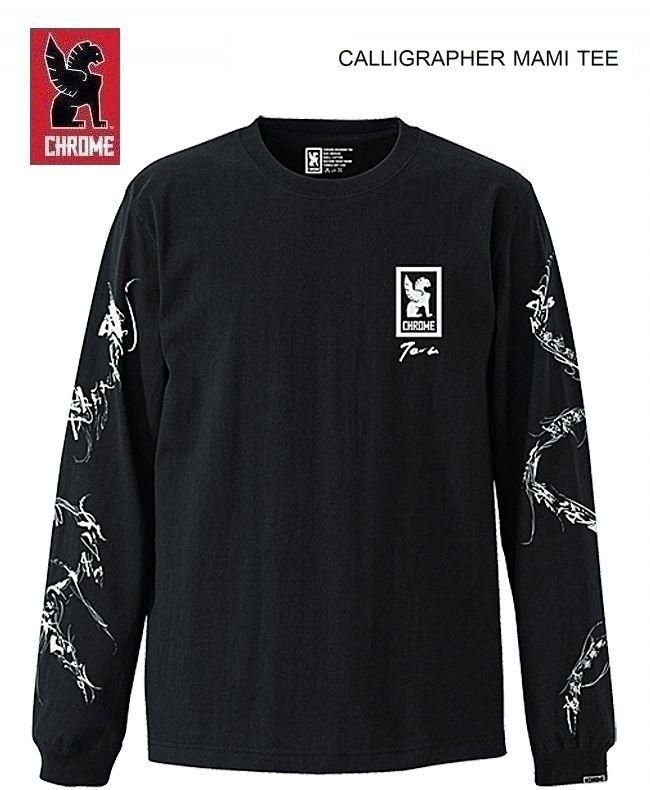 クローム 日本限定モデル カリグラファー万美 ロングTシャツCHROME JAPAN LTD CALLIGRAPHER MAMI LS Tshirt
