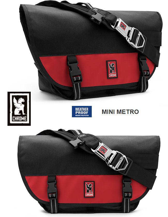 【全品P2倍/最大10,000円OFFクーポン配布中】CHROME Mini-Metro Black&Redクローム ミニメトロ メッセンジャーバッグ 最後のアメリカ製モデル