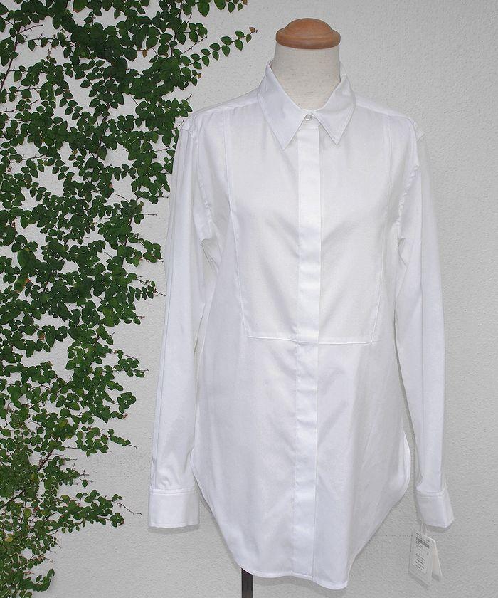 """radiance de SYHSEラディアンス ド シセホワイト.ドレスシャツ""""COQ white"""