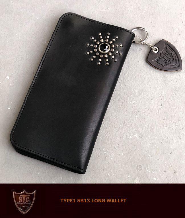 【全品P2倍】HTC SB13 Type1 StudsWallet Black/silverスターバースト スタッズウォレット 財布 札入れ カードケース madeinUSA アメリカ製