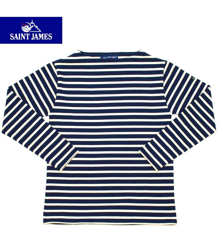 SAINT JAMES OUESSANT/GUILDOセントジェームス フランス製 ボートネック ボーダーTシャツ