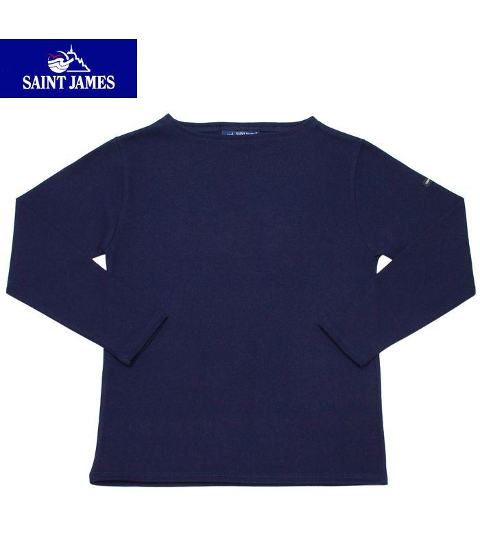 【全品P2倍】SAINT JAMES OUESSANT/GUILDOセントジェームス フランス製 ボートネック SOLID Tシャツ