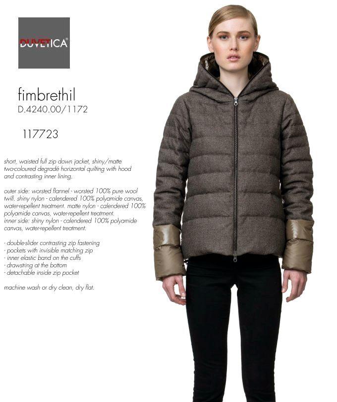 DUVETICA FIMBRETHIL col.117723デュベティカ ダウンジャケット ブラウンミックス.フランネルウール