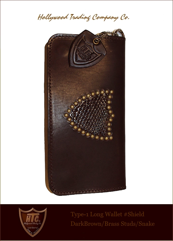 "HTC【♯Shield-Wallet""Long/brown""Snake】"