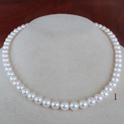 ●アコヤ真珠越物<Round Shape>6.5-7mm<ホワイトピンク><ExcellentSpecialversion>Necklace