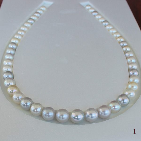 ●<Top quality>旬玉の香りアコヤ真珠越し物<生玉>8-10.5mmm<無調色><ルース>×47コ<Excellent Specialversion>Necklace