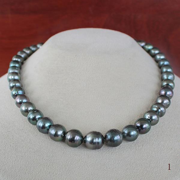 ●黒蝶真珠<Peacock><Semi Round Shape>8-11mm<Reasonable Special>Necklace