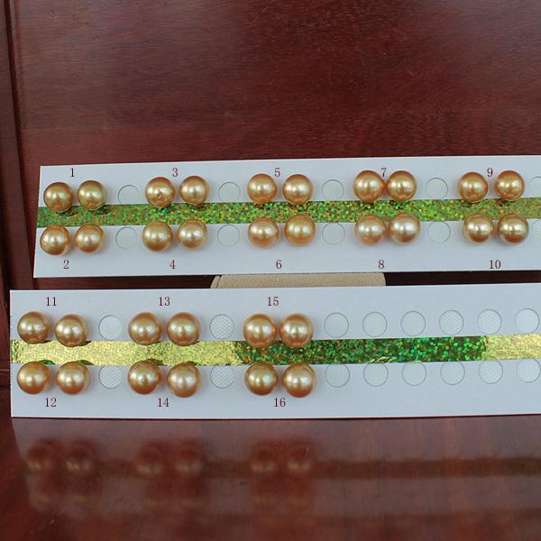 ●白蝶真珠ペア<ルース無穴><Natural Gold><Top quality><Round Shape>11-11.5mm<Titan Piace>直結※K18 or K14WG オプションです。選択くださいませ