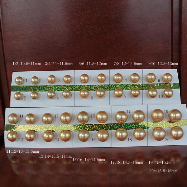 ●白蝶真珠ペア<Natural Gold><Top quality>10.5mmから15.5-16mmまで 追加価格あり直結 or ブラ K18 or K14WG 選択くださいませ