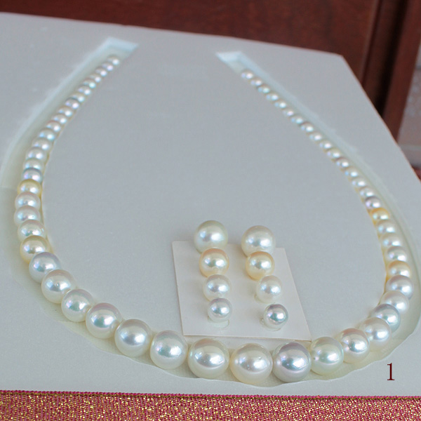 ●<Multi><Top quality>旬玉の香りアコヤ真珠越し物<無調色>6-10mm<ルース>×57コ<Round Shape>Excellent Special Necklace●<Titan Piace>9.25-9.5mm 直結/6-8mm×6コ脱着可<百合Swing>※Piace or Earringオプションあり。