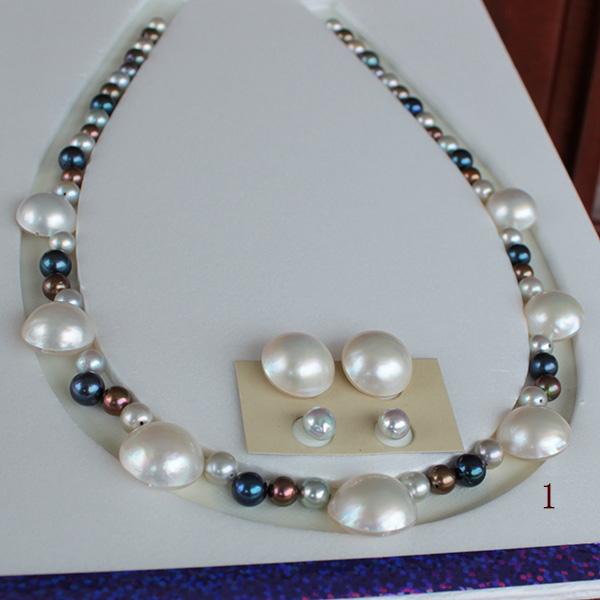 ●マベ真珠 13-16.5mm×7/アコヤ真珠越し物 5.5-7mm●マベ真珠 14.75-15mmペア&アコヤ真珠生玉 6.25-6.5mm<百合スイング>チタンピアス 直結&ブラ★オプションあり