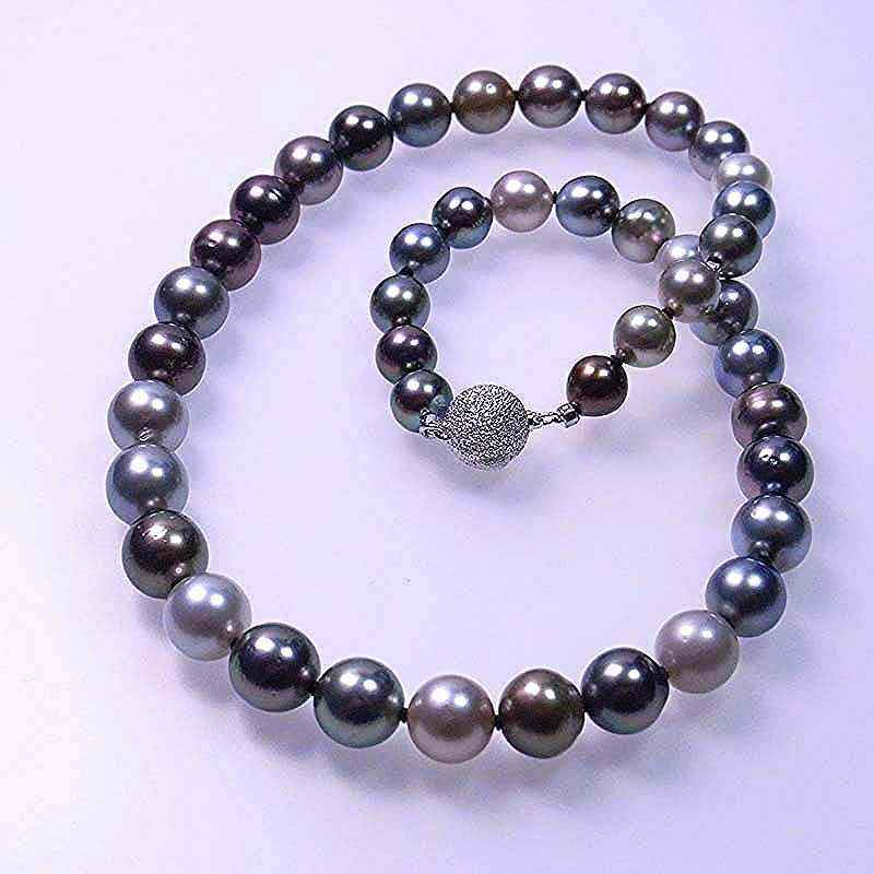 タヒチ黒真珠マルチネックレス