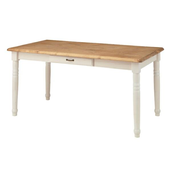 ダイニングテーブル CFS-211 カントリー 人気 おしゃれ かわいい 木製 幅150cm デザイン 食卓 リビング 机 4人掛け インテリア 北欧風 ダイニング 天然木 センターテーブル リビングテーブル 引き出し付 机 新生活 アンティーク アメリカン 代引可