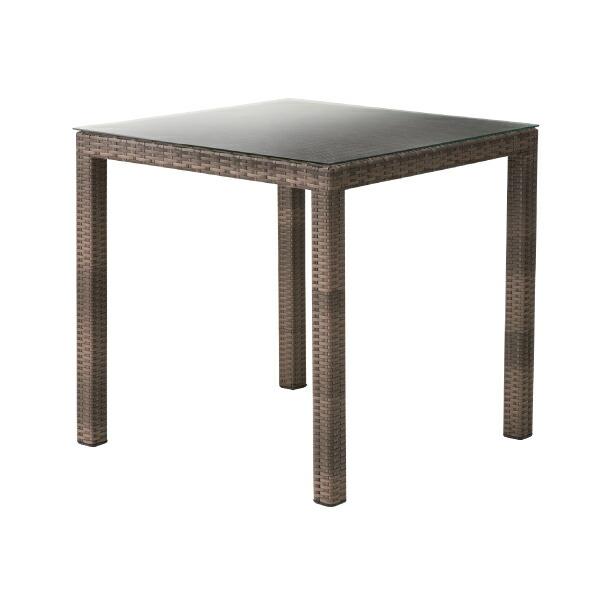 ダイニングテーブル NRS-431T 食卓テーブル カフェテーブル リビングダイニング おしゃれ シンプル リゾートテイスト アジアン ガラス天板