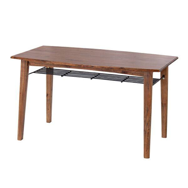 ティンバー ダイニングテーブル PM-304T 天然木 ブラウン 棚付き