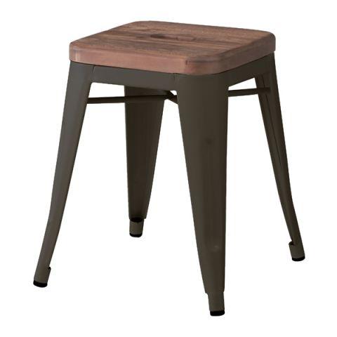 アラン スツール ◆ PC-134 天然木 いす イス チェア 椅子 角型 おしゃれ 一人暮らし 模様替え 木製 ウッド かわいい シンプル 新生活 北欧 カフェ風 デザイン 家具 インテリア スタイリッシュ 取手付き ホワイト ブラック スタッキング可