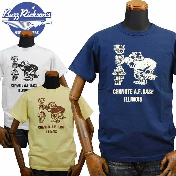 バズリクソンズ BUZZ RICKSON'S ミリタリーTシャツ「CHANUTE A.F.BASE」BR78345