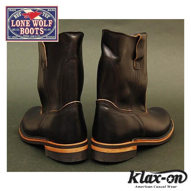 """朗沃尔夫(LONEWOLF)长筒皮靴""""ファーマー""""(FARMER)是LW00124-黑色◆东洋企业/糖果舵/人的◆"""