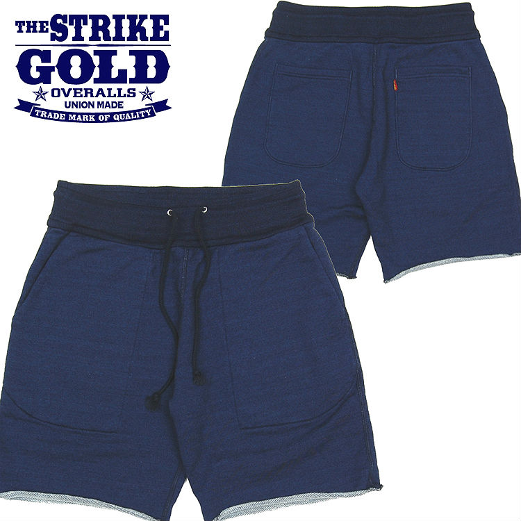 ストライクゴールド THE STRIKE GOLD インディゴスウェットショーツ「SGC1501」/ショートパンツ/アメカジ/メンズ/