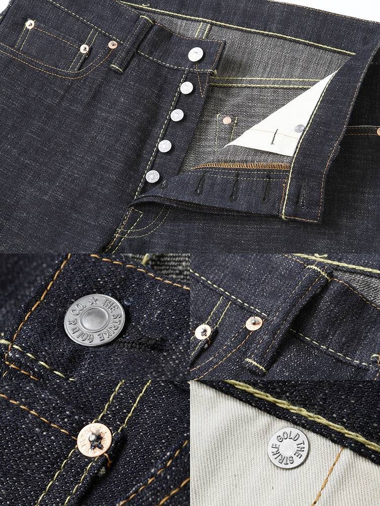 罢工黄金 (黄金罢工) 右绫 15 盎司定期直筒牛仔裤 SG5103 ◆ 经典系列 ◆ ★ 男装 / 女装的 ★