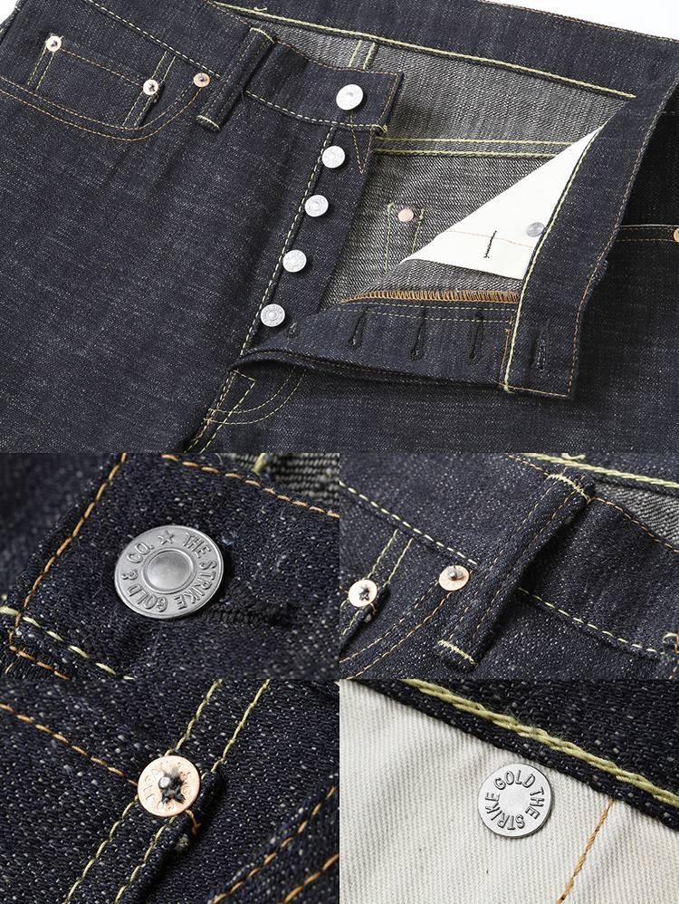 罢工黄金 (黄金罢工) 右绫 15 盎司超致密直筒牛仔裤 SG5109 ◆ 经典系列 ◆ ★ 男装 / 女装的 ★