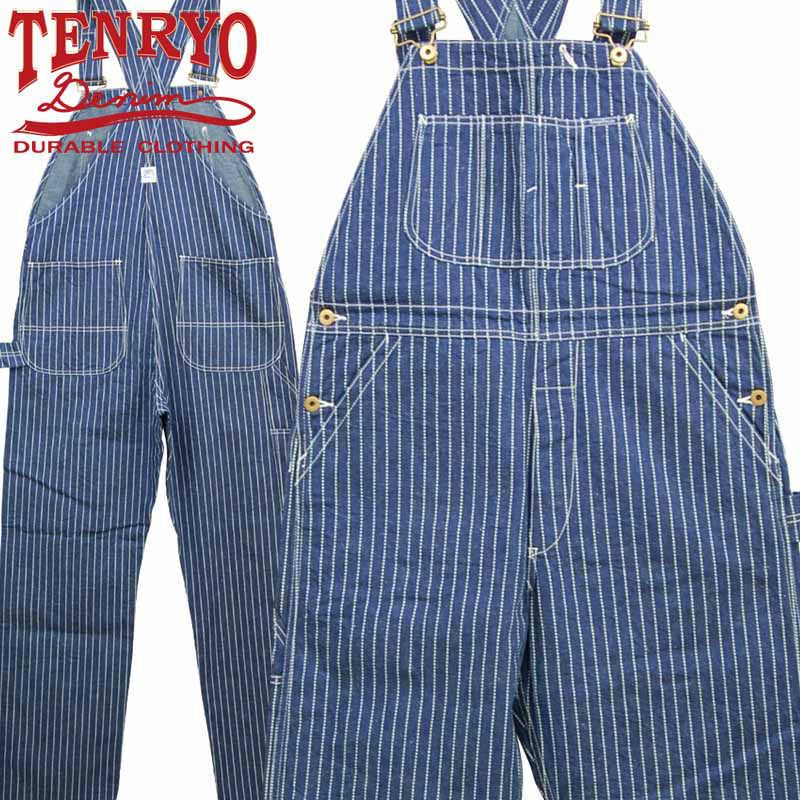倉敷天領デニム 店 TENRYO 海外 DENIM OVERALL TDP2001 オリジナルウォバッシュオーバーオール