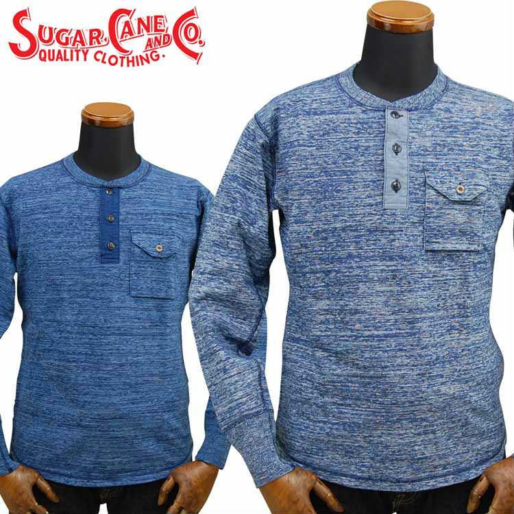 シュガーケーン SUGAR CANE FICTION ROMANCE 4本針インディゴクルーネックTシャツ 4NEEDLES INDIGO CREW NECK T-SHIRT「SC68349」