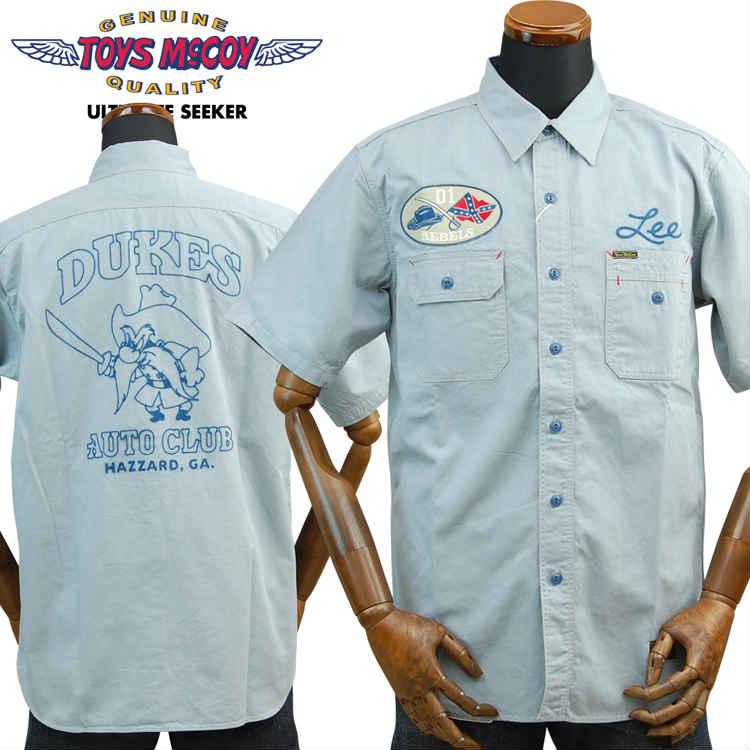 TOYS McCOYトイズマッコイ ヘリンボーンショートスリーブシャツ YOSEMITE SAM「DUKES AUTO CLUB」TMS1702
