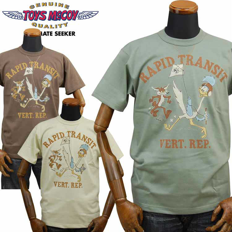 トイズマッコイ TOYS McCOY ミリタリーTシャツ ROAD RUNNER and W.COYOTE「RAPID TRANSIT」TMC1924