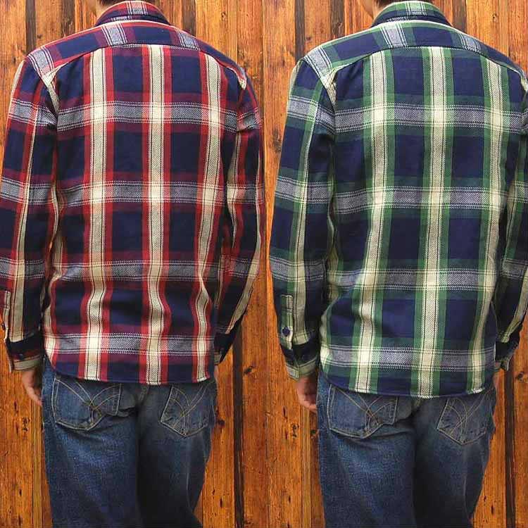 罢工的金矿罢工黄金 indigonelczekwork t 恤靛蓝 NEL 检查工作衬衫 'SGS013' ◆ 休闲/男 / 工作穿 ◆