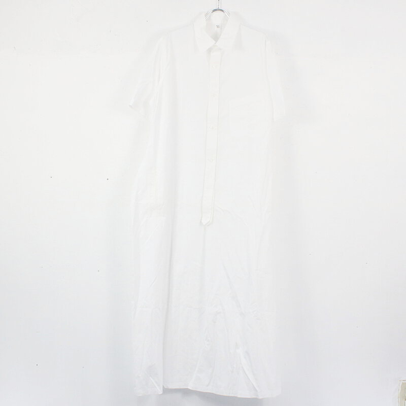 Y's ワイズ 特価品コーナー☆ BROAD SHORT SLEEVE SHIRT DRESS ブロードシャツドレスワンピース O612012-P-24602b3dd8c6f83 2021SS 美品 おしゃれ ホワイト ●スーパーSALE● セール期間限定 2 古着