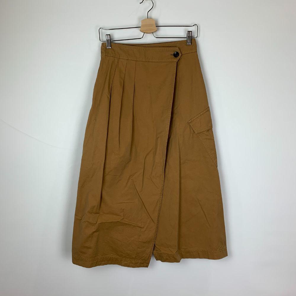 CINOH 2019AW Cotton Front Tucked タックスカート Skirt ブラウン Wrap お洒落 有名な 38