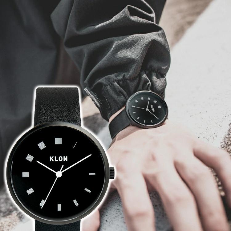 高級な 送料無料 腕時計 黒 Black おしゃれ レディース メンズ シンプル モノトーン モノクロ ギフト 誕生日 KLON ブランド お揃い LINE INCREASE 38mm 新商品!新型 BLACK クローン ジェンダーレス プレゼント SURFACE オールジェンダー 祝い
