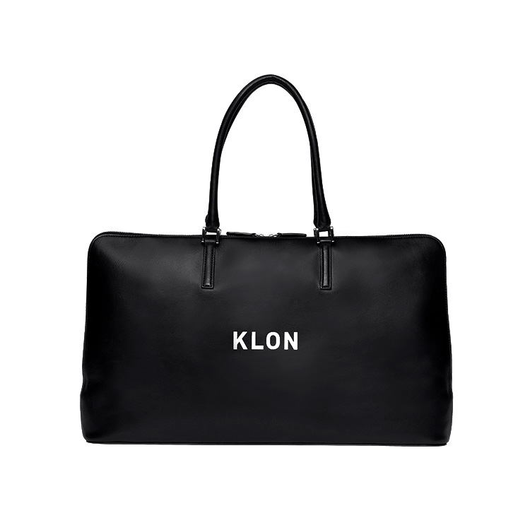KLON ACTIVE LEATHER BAG BRIEFCASE TYPE BLACK , レディース メンズ 秋 冬 バッグ 鞄 黒 レザーバッグ 本革 シンプル モノトーン ファッション バッグ クリスマス