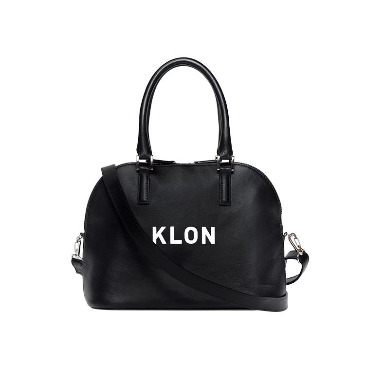 KLON ACTIVE LEATHER BAG ROUND TYPE BLACK , レディース メンズ バッグ 鞄 黒 レザーバッグ 本革 シンプル モノトーン ファッション 秋 冬 バッグ クリスマス