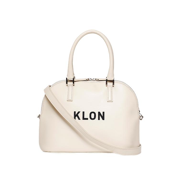 KLON ACTIVE LEATHER BAG ROUND TYPE WHITE , レディース メンズ バッグ 鞄 白 レザーバッグ 本革 シンプル モノトーン ファッション 秋 冬 バッグ クリスマス