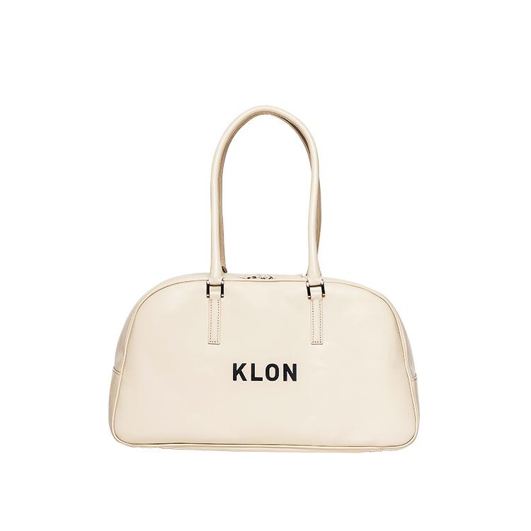 KLON ACTIVE LEATHER BAG BOSTON TYPE WHITE , レディース メンズ 秋 冬 バッグ 鞄 白 レザーバッグ ボストンバッグ 本革 シンプル モノトーン バッグ クリスマス
