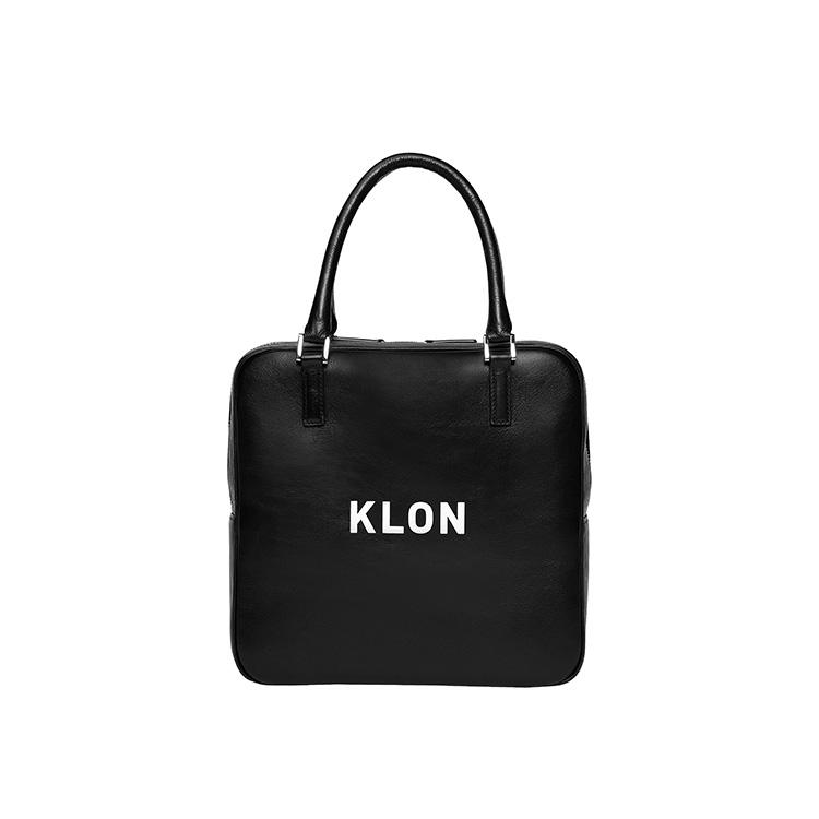KLON ACTIVE LEATHER BAG SQUARE TYPE BLACK , レディース メンズ 秋 冬 バッグ 鞄 黒 レザーバッグ 本革 シンプル モノトーン ファッション バッグ クリスマス