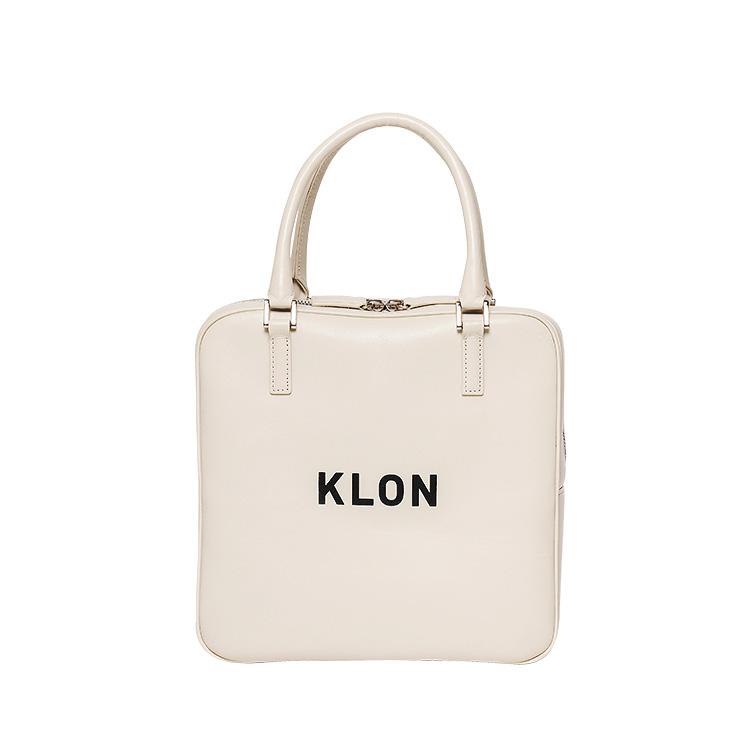 KLON ACTIVE LEATHER BAG SQUARE TYPE WHITE , レディース メンズ 秋 冬 バッグ 鞄 白 レザーバッグ 本革 シンプル モノトーン ファッション バッグ クリスマス