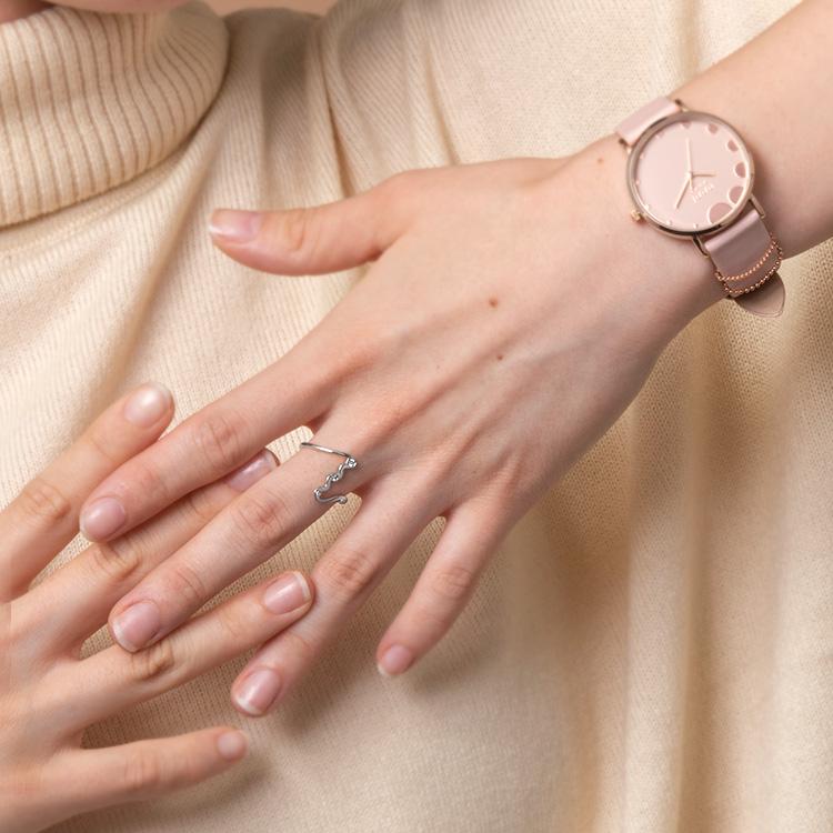 送料無料 指輪 シルバー 9 10 物品 数量は多 11 号 ギフト レディース メンズ シンプル ブランド ペールカラー UNDULATE くすみカラー プレゼント 祝い RING NUWL ヌール 社会人 女性 SILVER