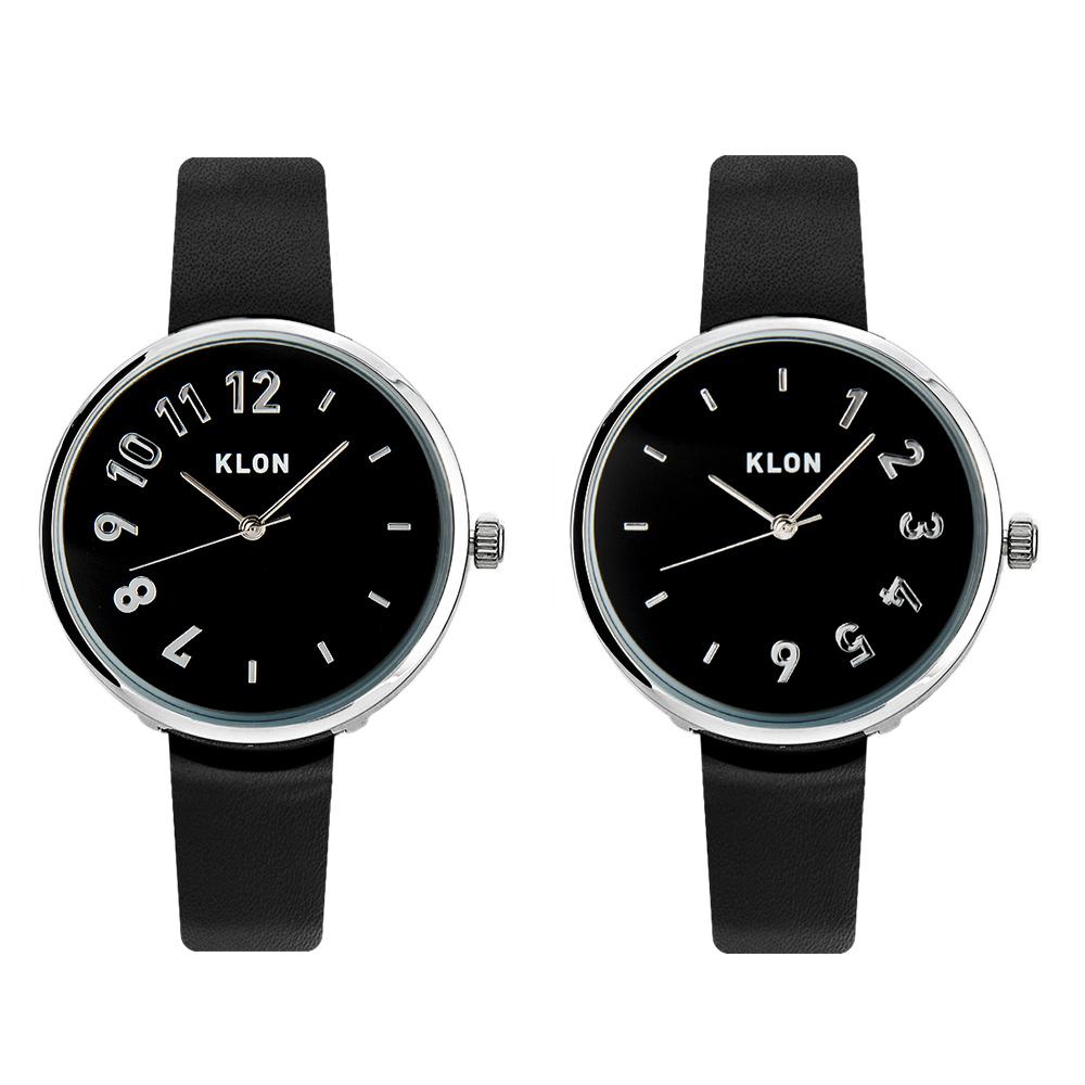KLON CONNECTION DARING 【BLACK SURFACE】 33mm , レディース メンズ ペアウォッチ 腕時計 黒 シンプル モノトーン 誕生日 ペアウォッチ クリスマス