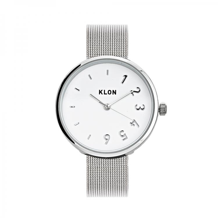KLON CONNECTION DARING FIRST -SILVER MESH- 38mm , レディース メンズ 腕時計 シルバー シンプル モノトーン モノクロ 誕生日 初夏 春 腕時計 母の日 進学 バレンタイン 新生活 祝い 就活