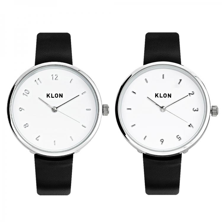 KLON CONNECTION ELFIN 38mm , レディース メンズ ペアウォッチ 腕時計 黒 シンプル モノトーン 誕生日 ペアウォッチ クリスマス