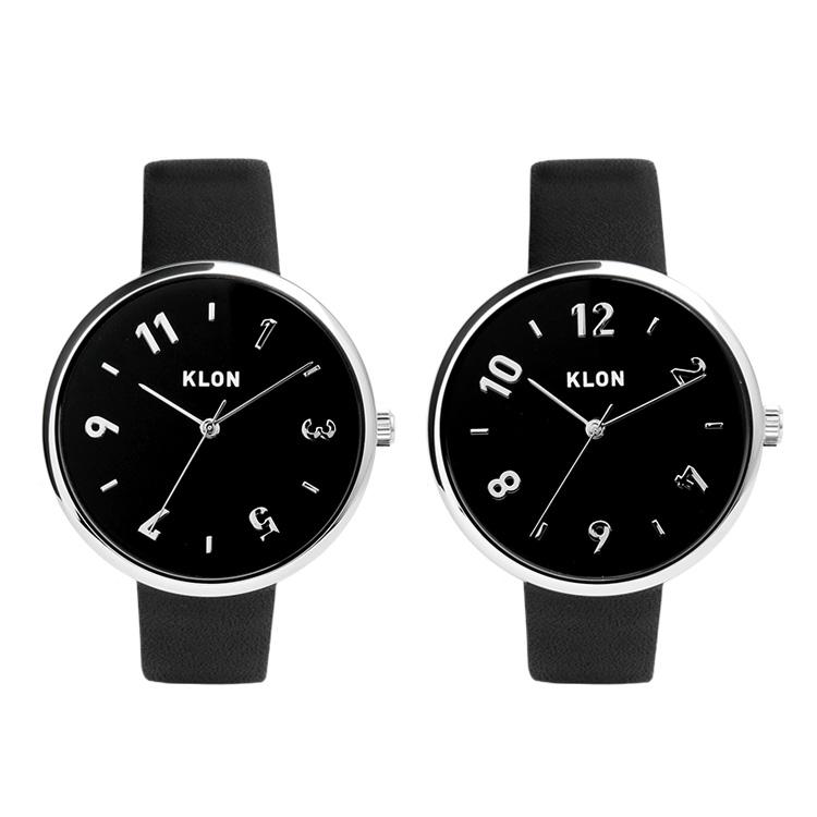 KLON PASS TIME DARING【BLACK SURFACE】38mm , レディース メンズ ペアウォッチ 腕時計 黒 シンプル モノトーン 誕生日 ペアウォッチ クリスマス